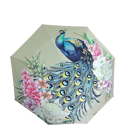 *Regal Peacock Auto Open/Close Printed Umbrella by Anuschka