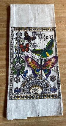 Butterfly Book - Original Art Dishtowel