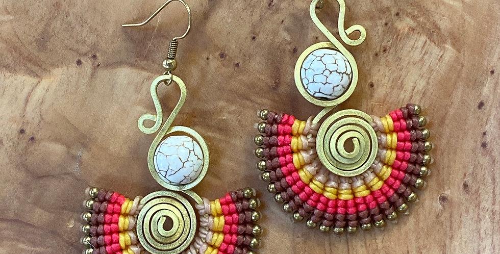 Parthenon Sunset - Handmade Greek Earrings