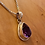Thumbnail: Desirable Pear Shape Faceted Amethyst Pendant