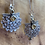 Thumbnail: Sterling Silver and Citrine Art Nouveau Dangle Earrings