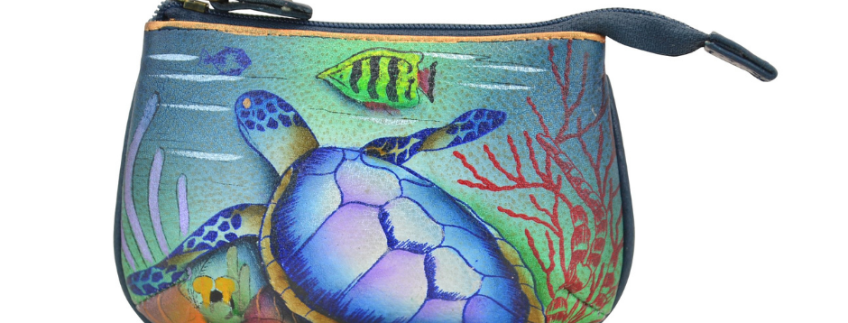 """Ocean Treasures"" Medium Zip Pouch"