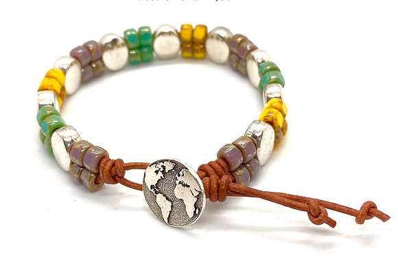 3-Tone Stepping-Stone Bracelet