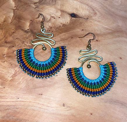 Aegean Sky - Handwoven Greek Earrings