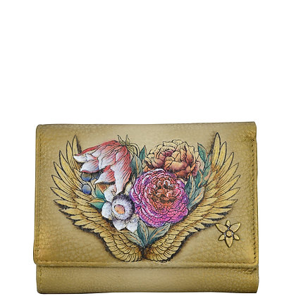 *Angel Wings RFID Blocking Small Flap French Wallet, by Anuschka