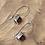Thumbnail: 5mm Square Garnet Earrings Bezel Set in Sterling Silver
