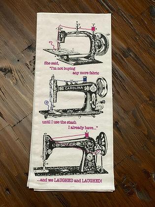 Sewing Machines - Original Art Dishtowel