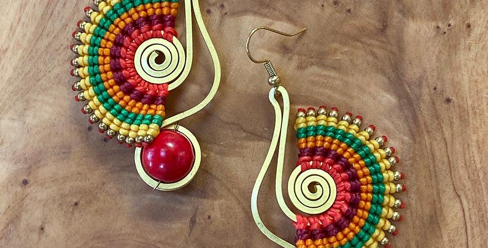 Phoenix (Foínix) - Handmade Greek Earrings