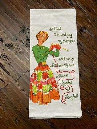 Knitting - Original Art Dishtowel