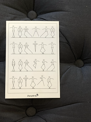 Carte Postal Stick Figures Dancing