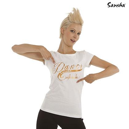 "T_Shirt coton "" Dance with Sansha""  Blanc"