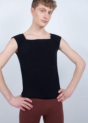 T shirt adulte col carré manches courtes
