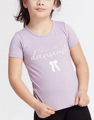 """T-Shirt Anais Noeud mauve """"Je suis une danseuse"""""""