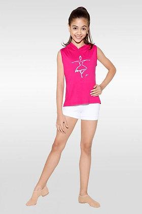 T-Shirt avec Capuche L-1425 Rose