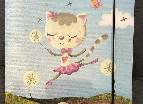 pochette A4 Dancing Cat On Meadow