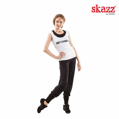 Leggings with Rubber Legs Black Skazz