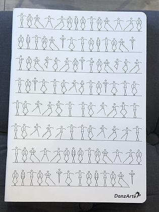 cahier A4 Stick Figures DancingLined