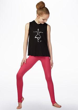 T-Shirt avec Capuche L-1425 Black