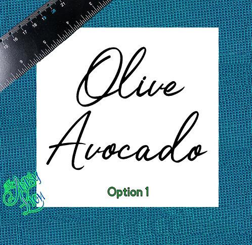 Olive Oil & Avocado Oil 1 layer