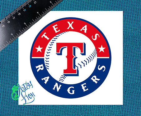 Texas Rangers decal