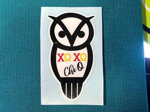 Chi Omega Owl XOXO