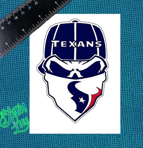 Houston Texans skull reverse baseball cap