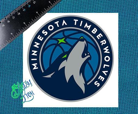 Minnesota Timberwolves decal