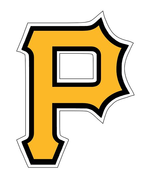 Pittsburgh Pirates, Large P, yellow, black, white layered