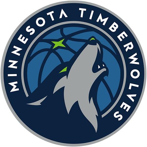 Minnesota Timberwolves logo, wolf, basketball