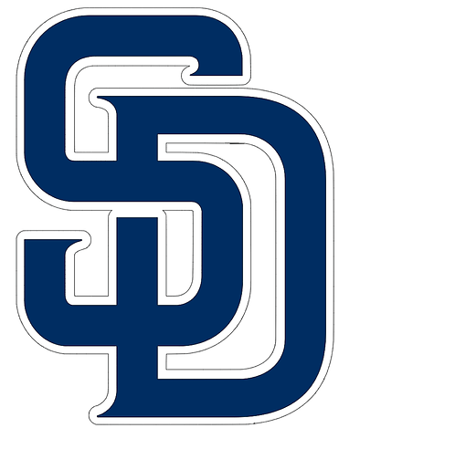 San Diego Padres, large SD, navy, white