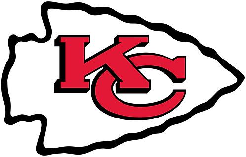 Kansas City Chiefs, arrowhead, KC, black, white, red