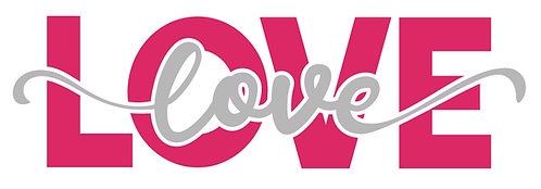 Love 2 ways 2 color decal sticker