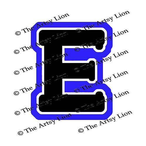Epsilon Greek letter 3 color/3 layers