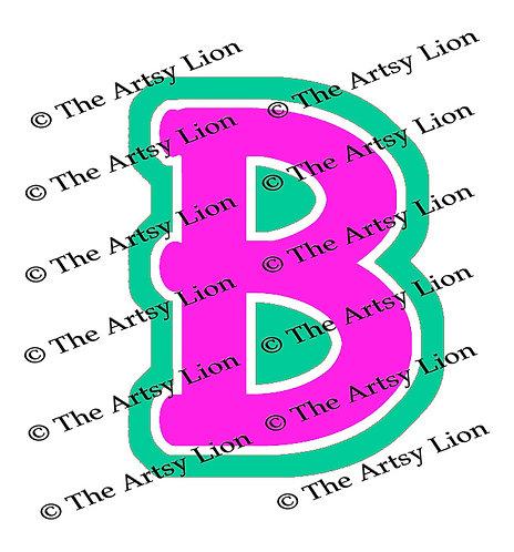Beta Greek letter Greek letter 3 color/3 layers