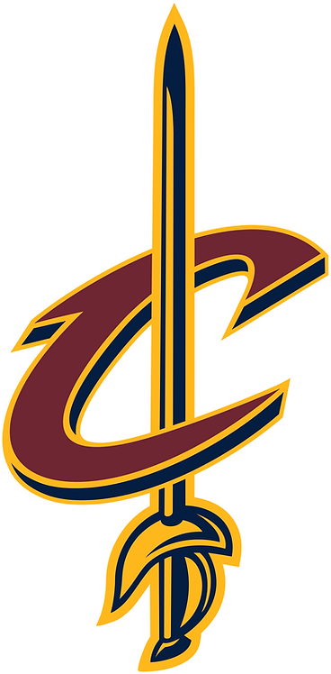 Cavaliers, maroon C with sword, yellow, black
