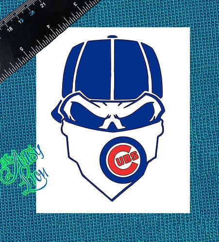 Chicago Cubs skull reverse baseball cap