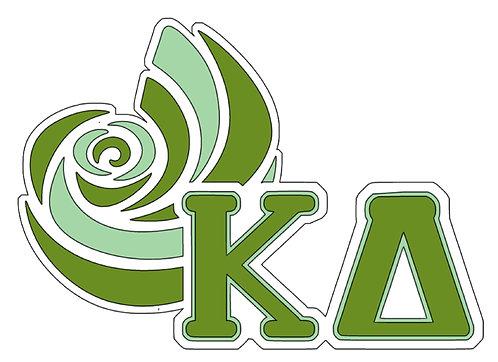 Kappa Alpha 3 layers Decal with nautilus