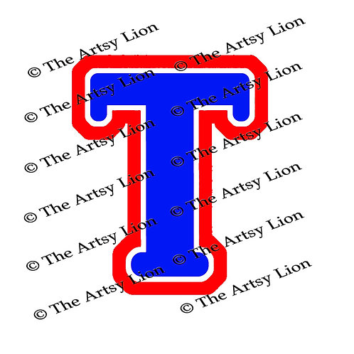 Tau Greek Letter 3 color/3 layers