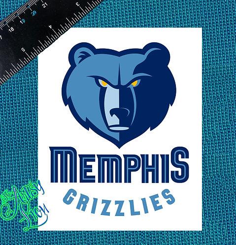 Memphis Grizzlies decal