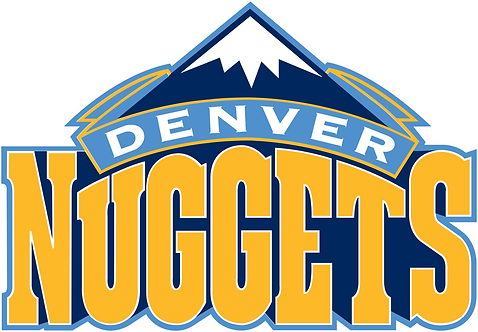 Denver Nuggets layered sticker decal