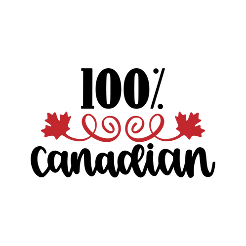 100% Canadian 2 color decal sticker