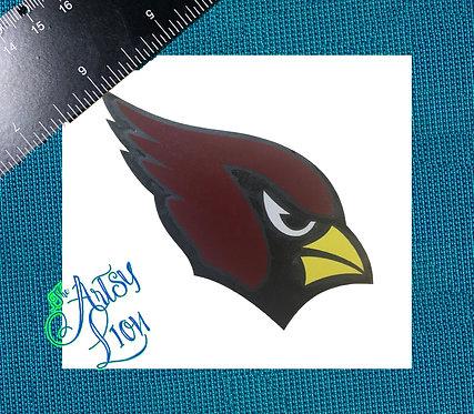 St. Louis cardinal, Red, black, white layered vinyl