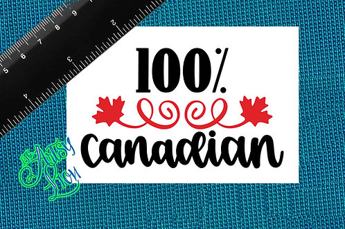 100% canadian 2 color/1 layer
