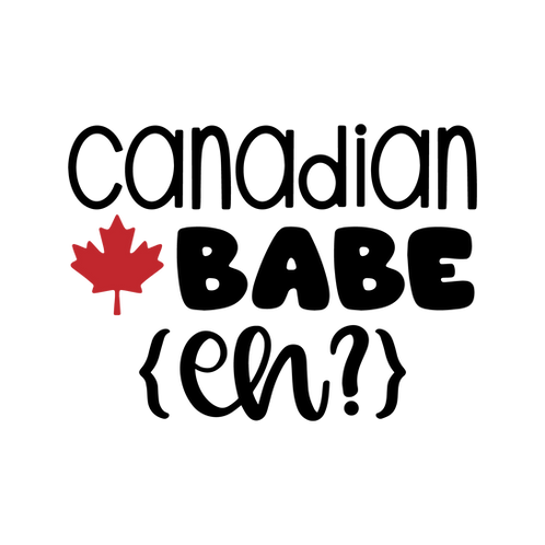 Canadian Babe (eh?), maple leaf, 2 color