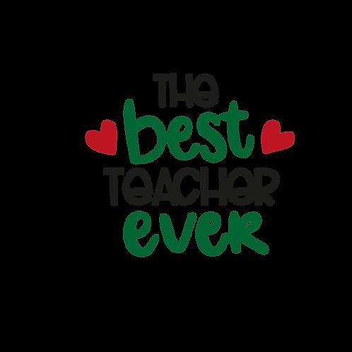 Best teacher ever decal sticker 3 colors