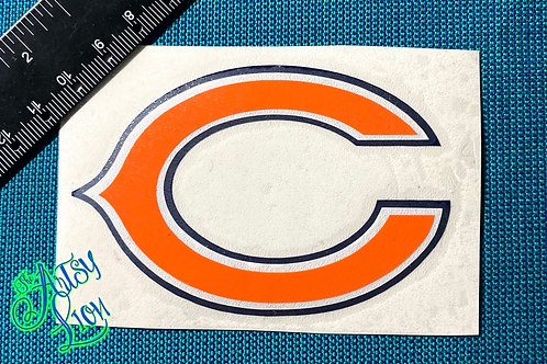 """Chicago Bears """"C"""" in orange, white and blue layered decal"""