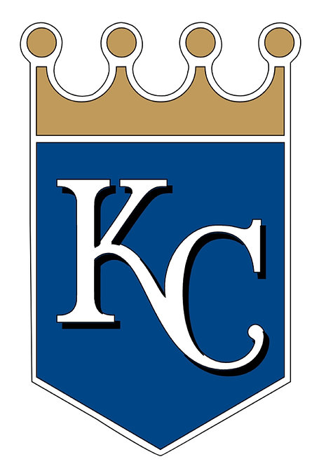 Kansas City Royals, banner, KC, white, gold, navy