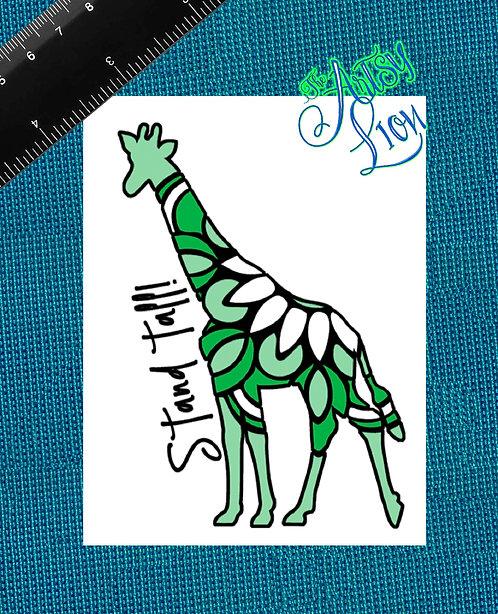 Stand Tall Mandala Giraffe