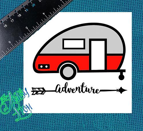 Camper adventure camping