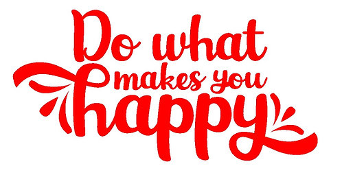 Do what makes you happy 1 layer sticker decal